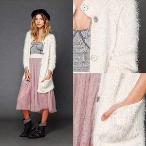 Free People Keep It Fuzzy Super Soft Knit Cardigan